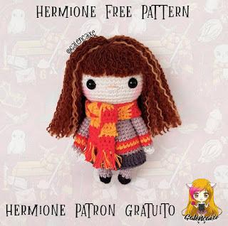 PATRON GRATIS HERMIONE | HARRY POTTER AMIGURUMI 39378