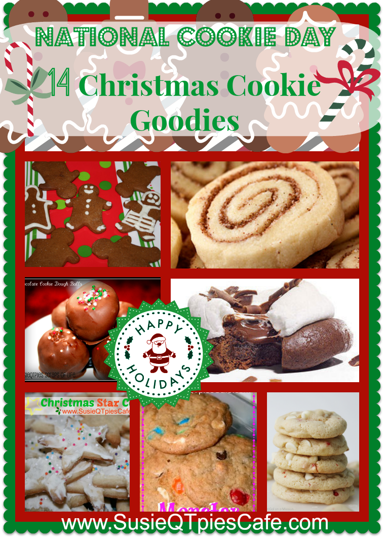 SusieQTpies Cafe: National Cookie Day With 14 Christmas