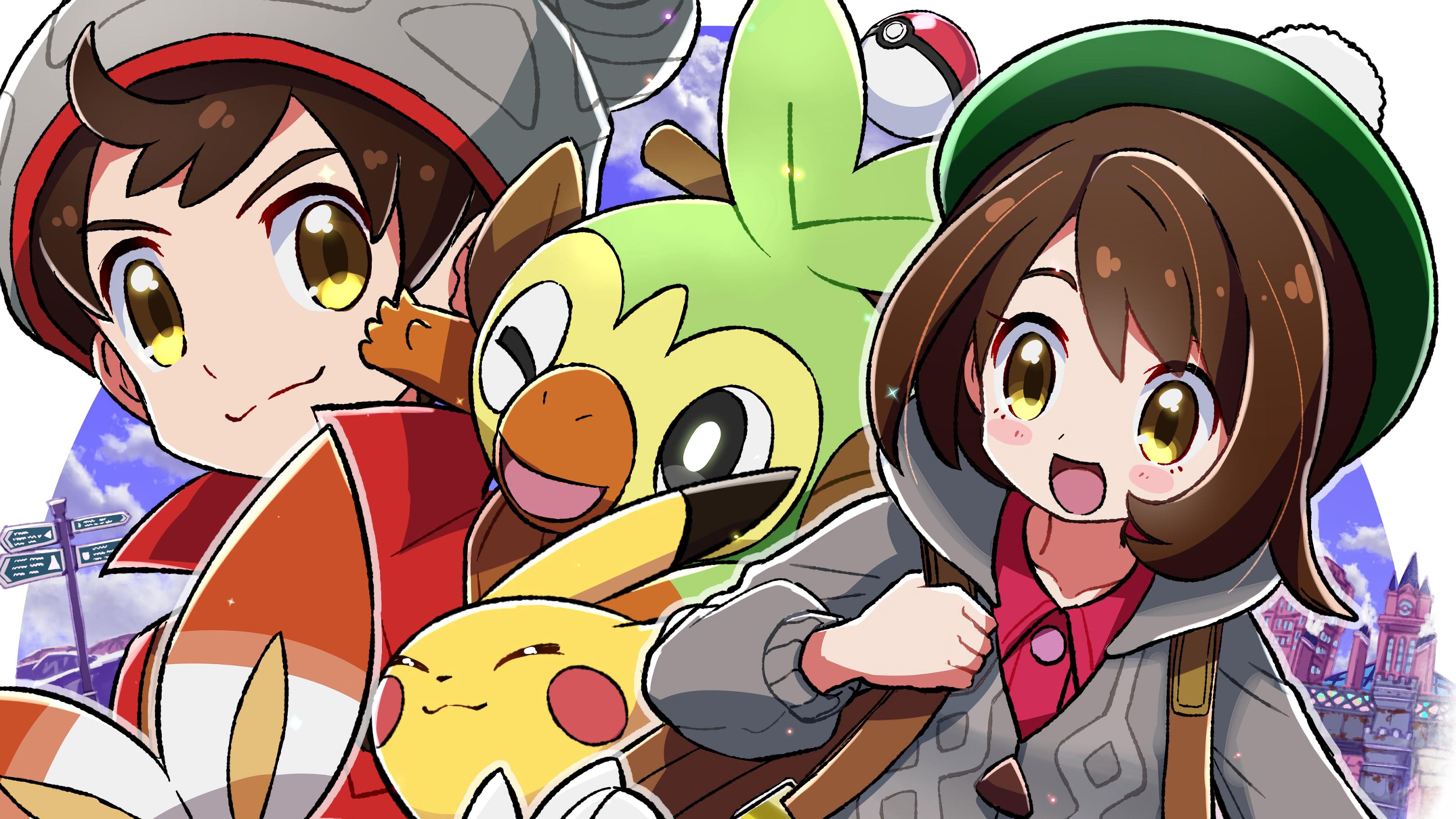 Pokemon Sword and Shield, Pokemon Trainer, Pikachu ...