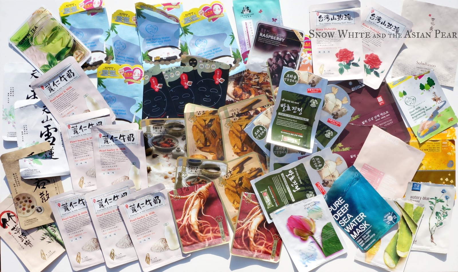 Korean sheet masks & Taiwanese sheet masks