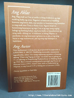 ang maganak na cruz back cover liwayway arceo 9715500064