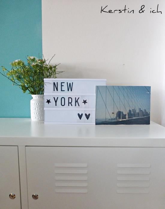 Dekoration mit Lightbox und DIY Fototransfer auf Holz