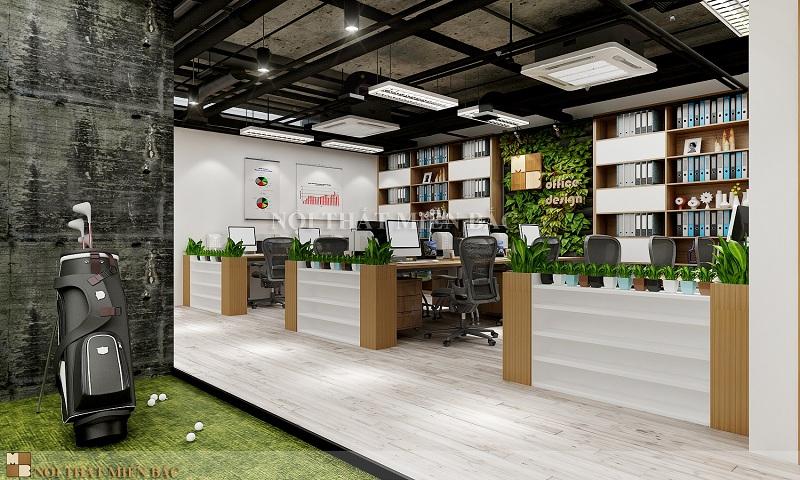 Tư vấn thiết kế nội thất phòng làm việc xanh sạch đẹp
