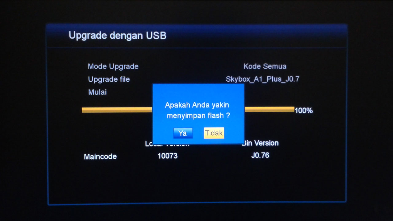 Cara Upgrade Receiver Skybox A1 Plus Update Sendiri