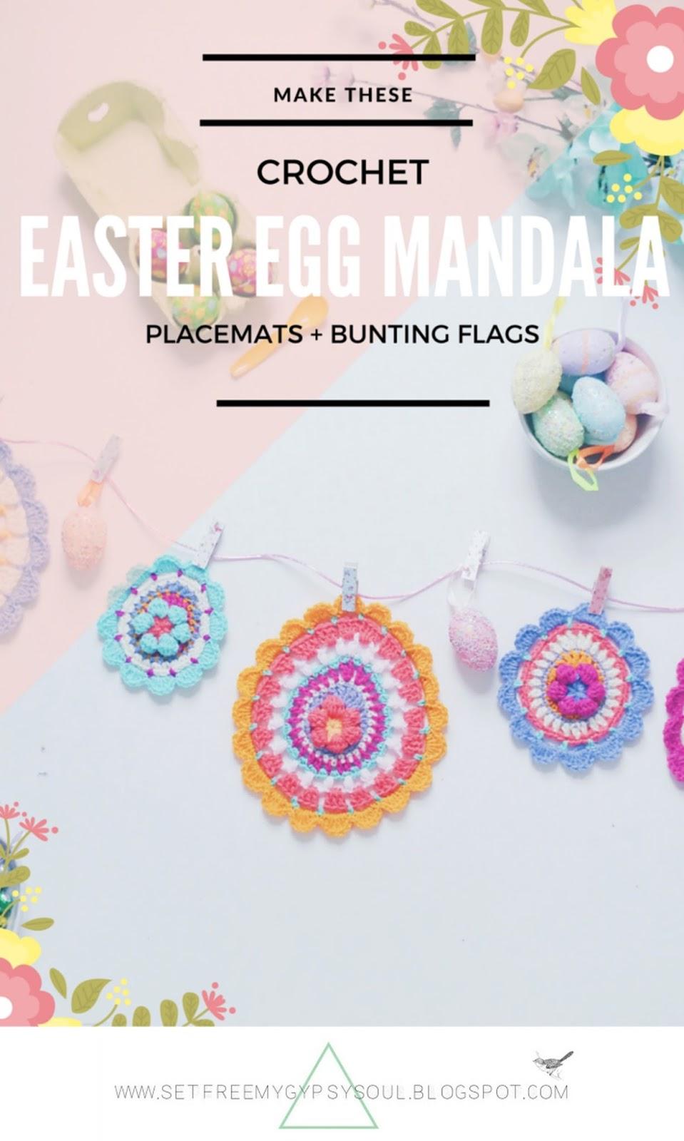easter egg mandala free crochet pattern
