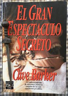 Portada del libro El gran espectáculo secreto, de Clive Barker