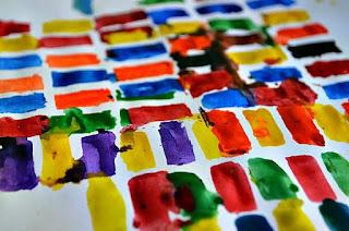 Percobaan membuat gabungan warna