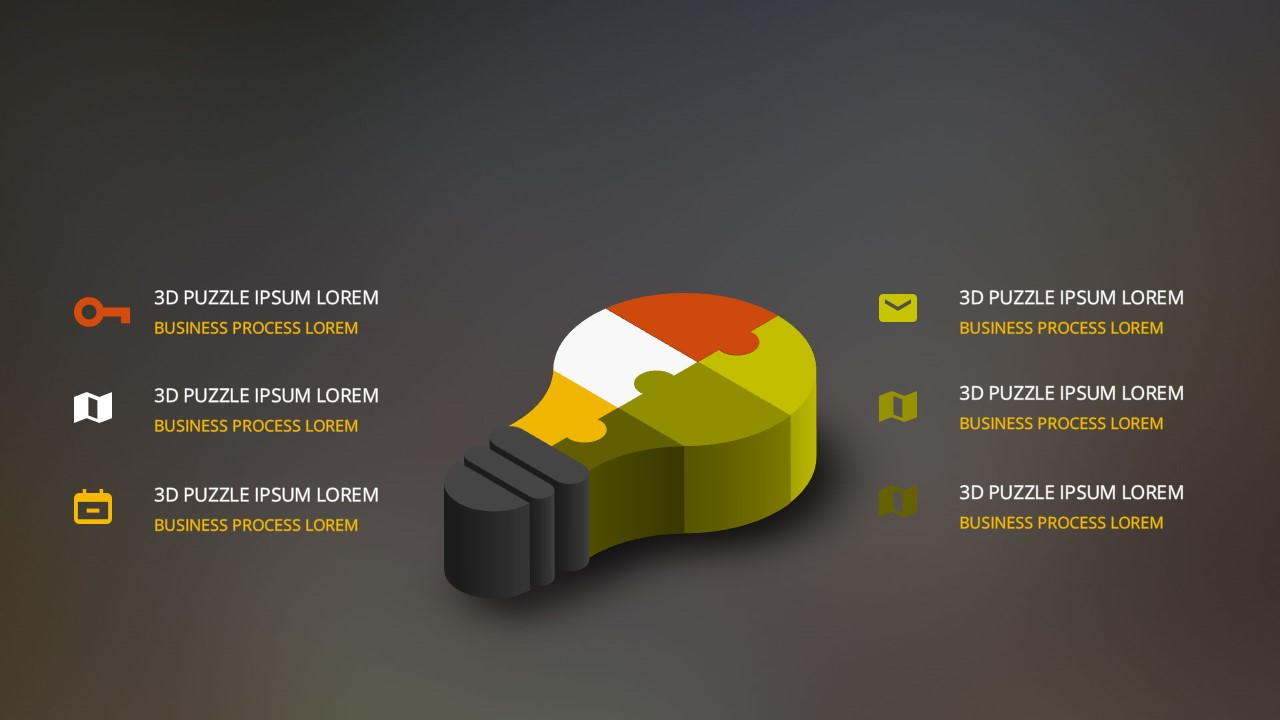 Free PowerPoint Template with 3D Light Bulb and Puzzle Pieces ...
