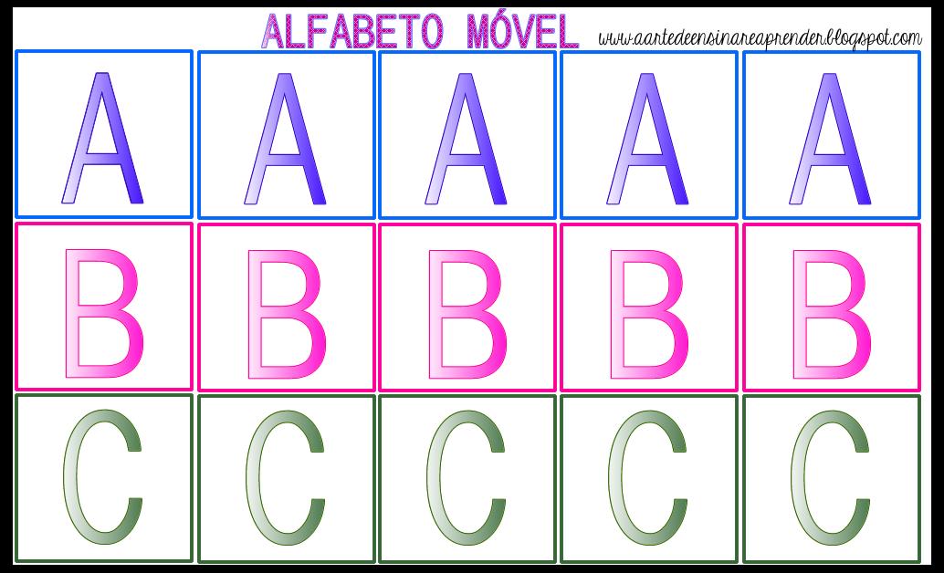 Alfabeto Movel A Arte De Ensinar E Aprender