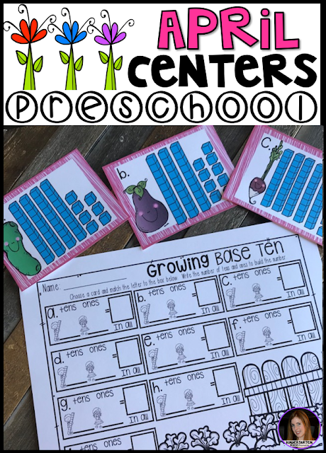 Spring Centers for April is 248 pages full of hands-on math and literacy centers to help build a strong foundation in math an literacy skills.