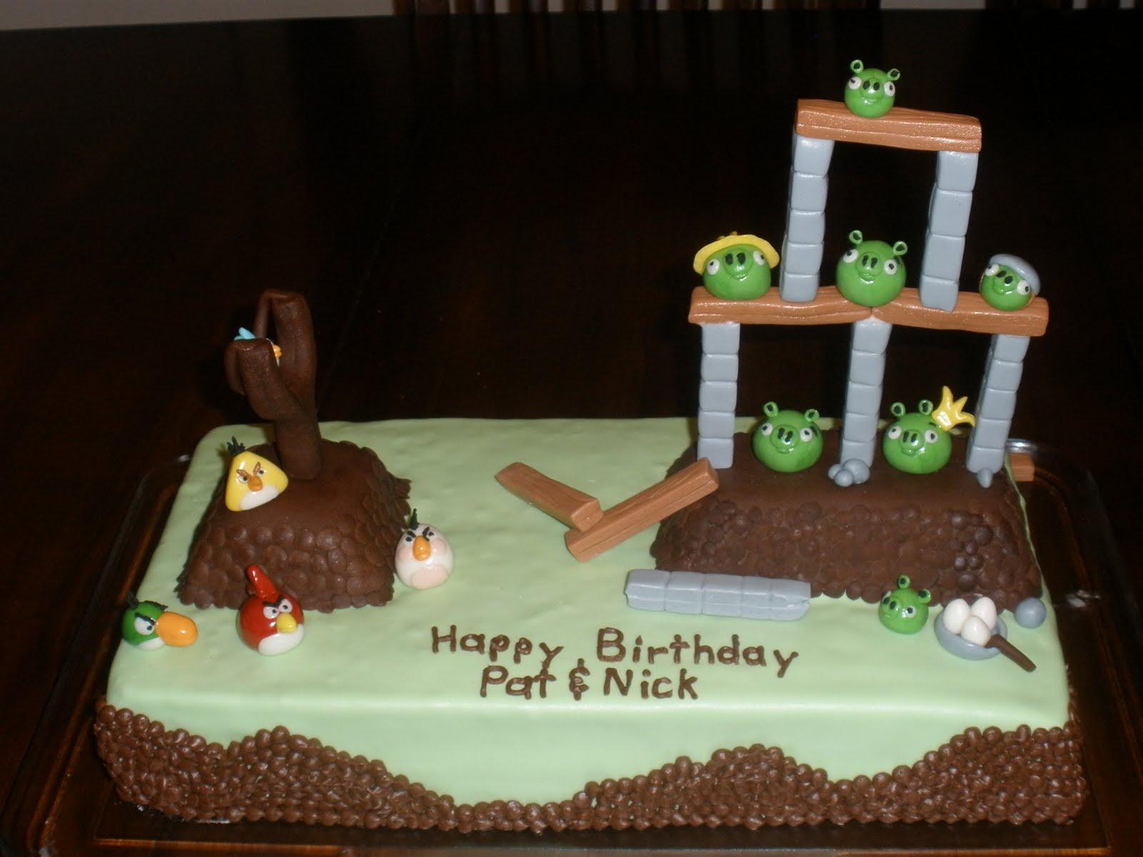 It S A Piece Of Cake Angry Birds Birthday Cake