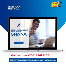 GET A 100% LOCALLY VERIFIED GHANAIAN PAYPAL ACCOUNT TODAY FOR ALL YOUR TRANSACTIONS.