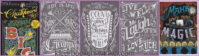 kleurboek  chalkboard art