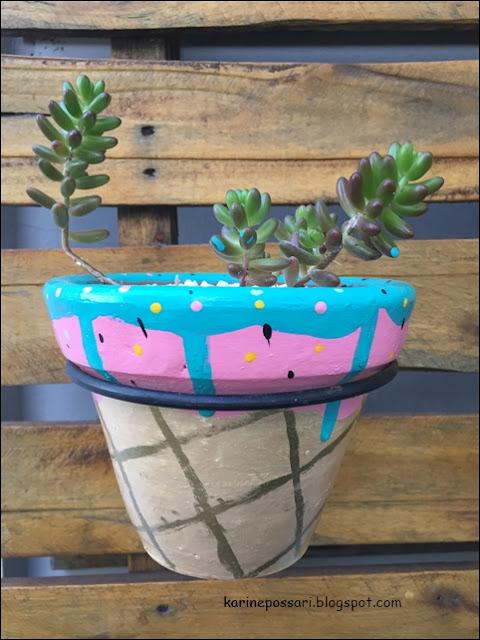 ideia para vasinhos de suculentas