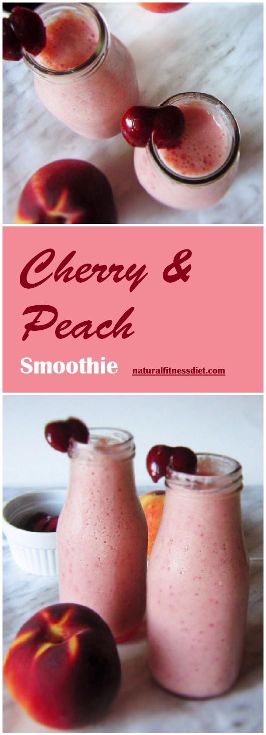 Cherry Peach Yogurt Smoothie