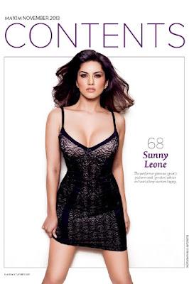 Sunny Leone in Maxim Magazine Photoshoot