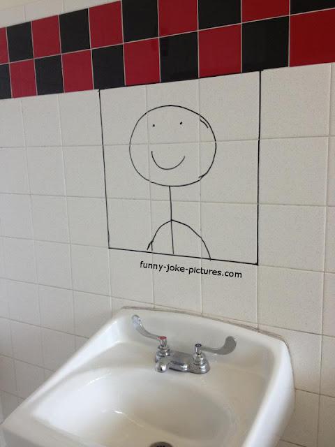 Funny Happy Smile Mirror Photo