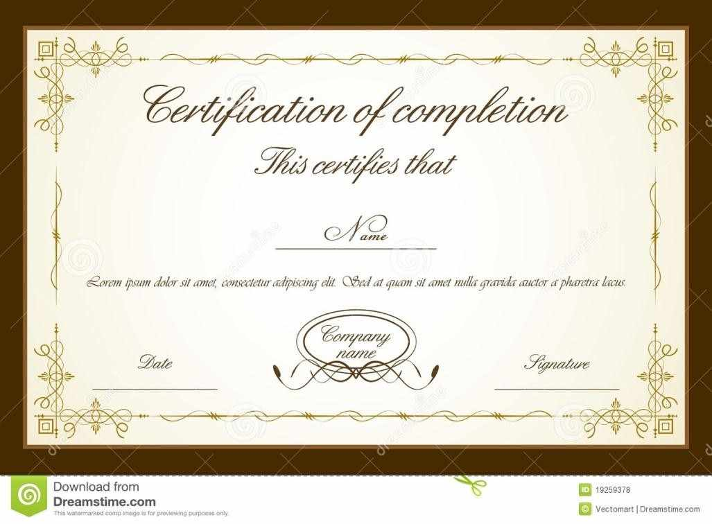 certificate of certification template