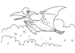 Printable Fly Dinosaur Coloring Pages For Kids