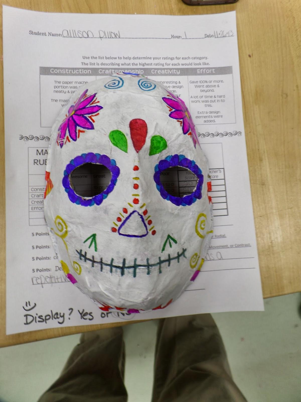 Adventures Of A Middle School Art Teacher 8th Grade Sugar Skull Masks