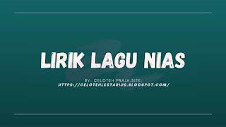 Yesu Dölanagu Sindruhu Lirik |Yesu Razo Wa Aduhu Daniel Folala Zalukhu, Lagu Rohani Nias