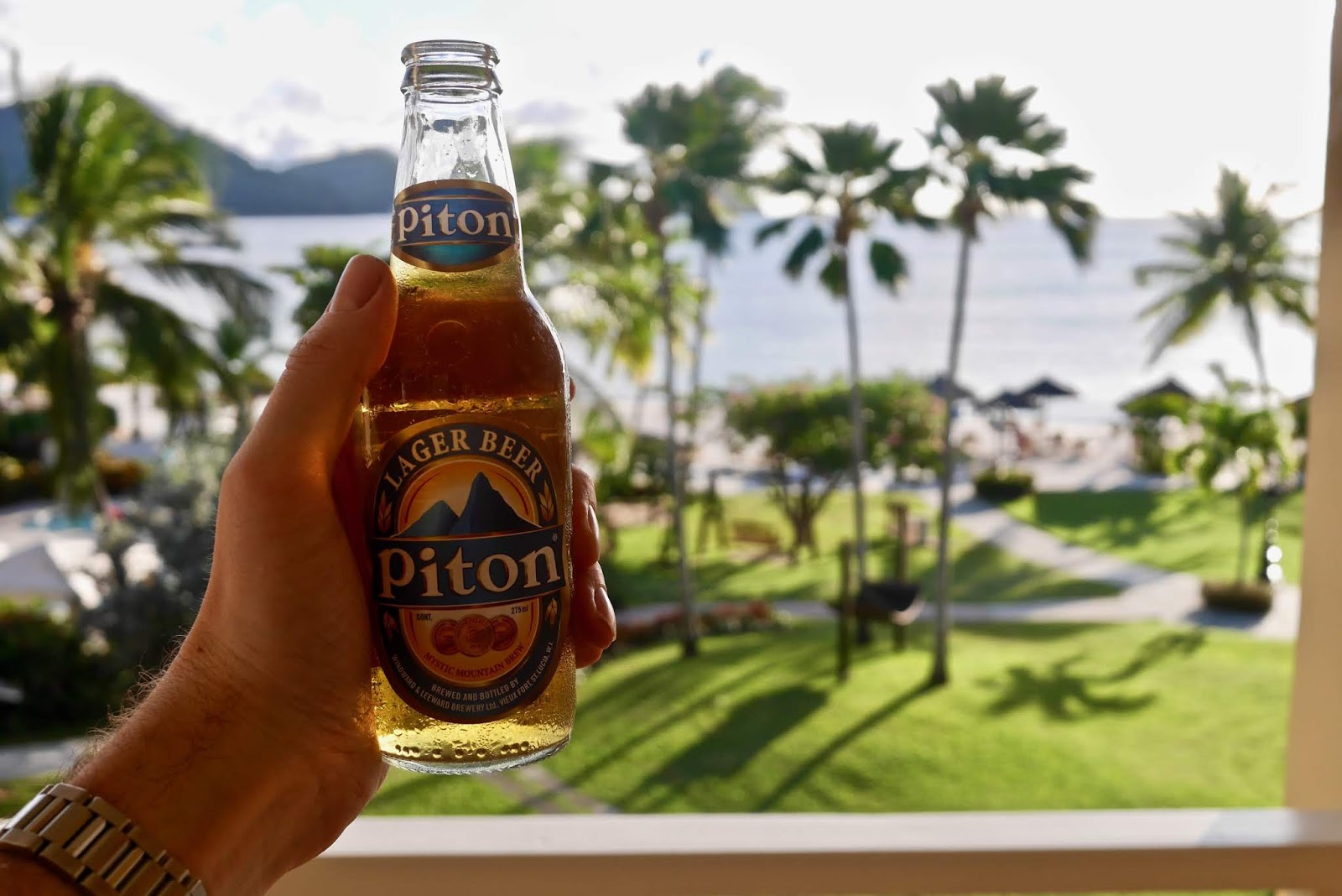 Piton Beer at Sandals Grande St Lucia, Sandals Grande St Lucia Review