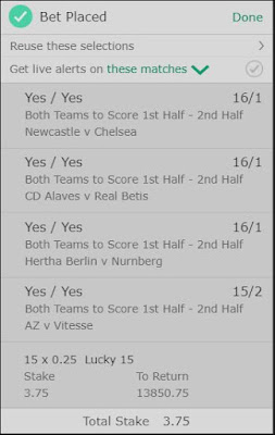 Football Bet For The Weekend Of August 25th 2018