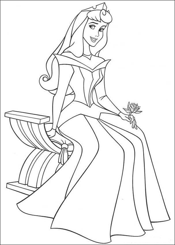 Ausmalbilder Prinzessin Aurora Disney Princess Sleeping