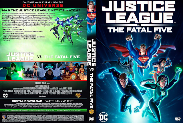 Justice League vs. the Fatal Five DVD Cover