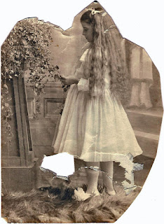 damaged photo girl with long hair San Mateo county