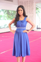 Divya Nandini stunning Beauty in blue Dress at Trendz Exhibition Launch ~  Celebrities Galleries 085.JPG