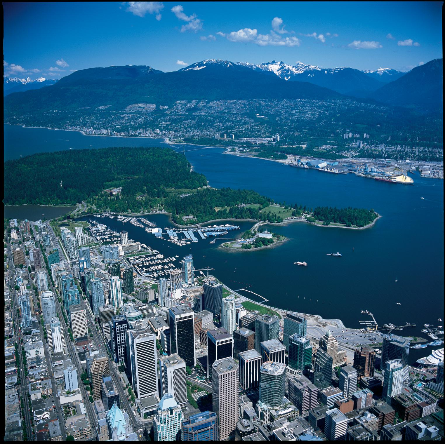 Vancouver Harbour: World Visits: Vancouver Skyline Attraction City Of British