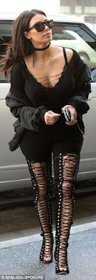 1a2 Photos: Kim Kardashian steps out in black