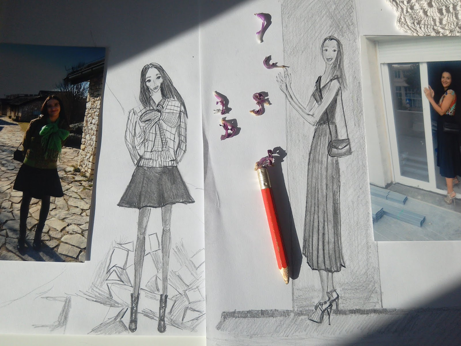 #FashionIllustrations in #Pencil: My Answer To Drawing With or Without a Reference Dilemma.