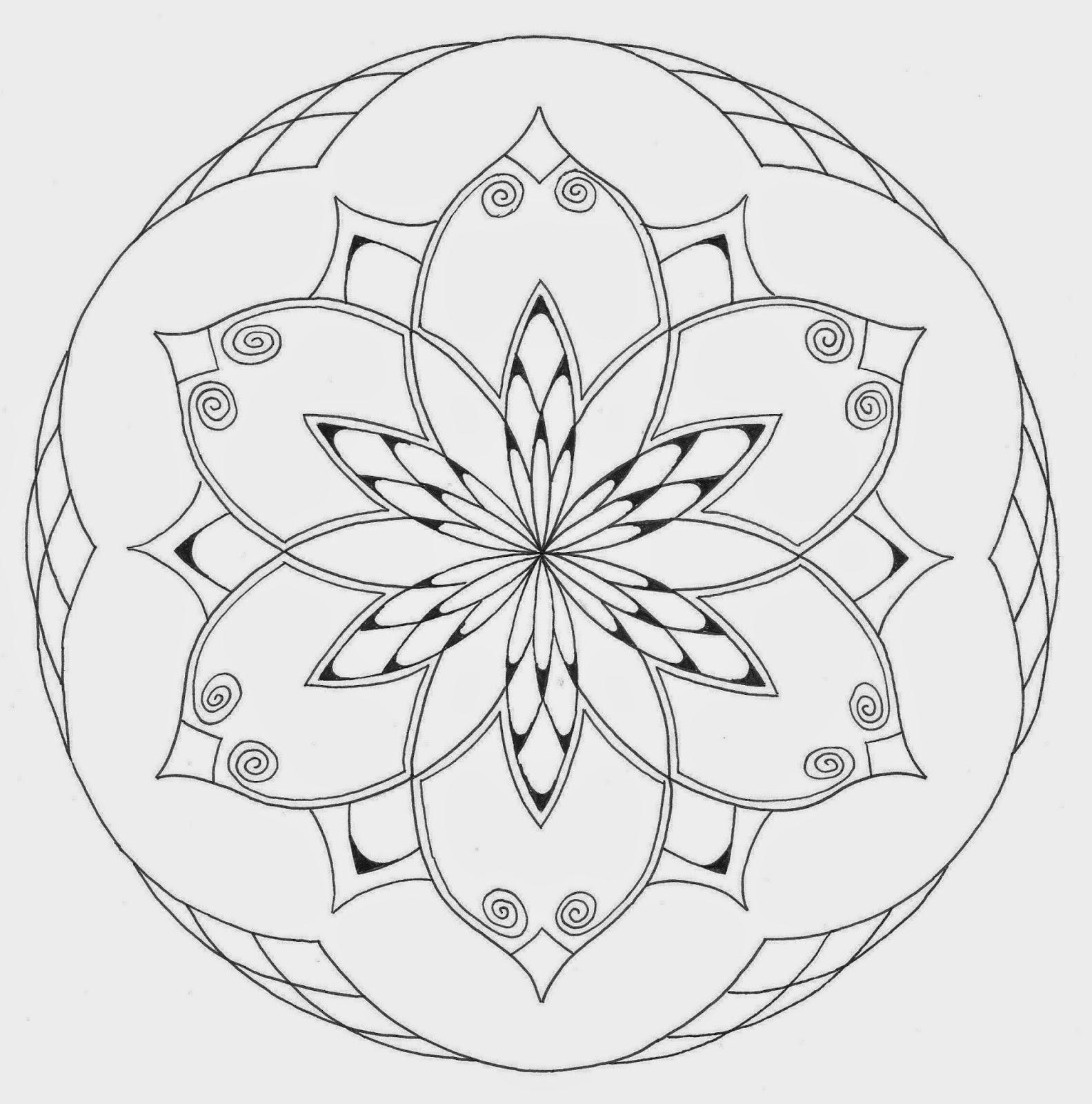 mandala atelier mandala kleurplaten en templates 2014