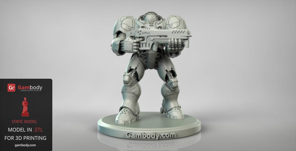 Terran Marine 3D print Action Figure