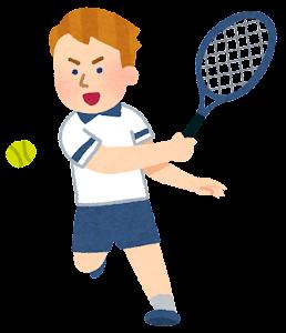 テニス選手のイラスト(白人男性)