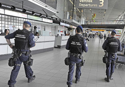 bomb blasts at Rock Brussels Airport