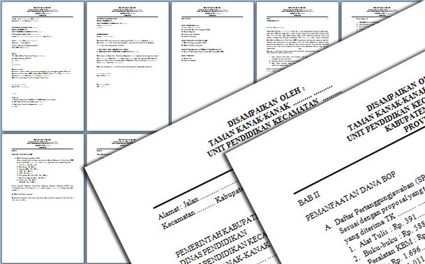 Format Laporan Pertanggung Jawaban LPJ Dana BOP PAUD