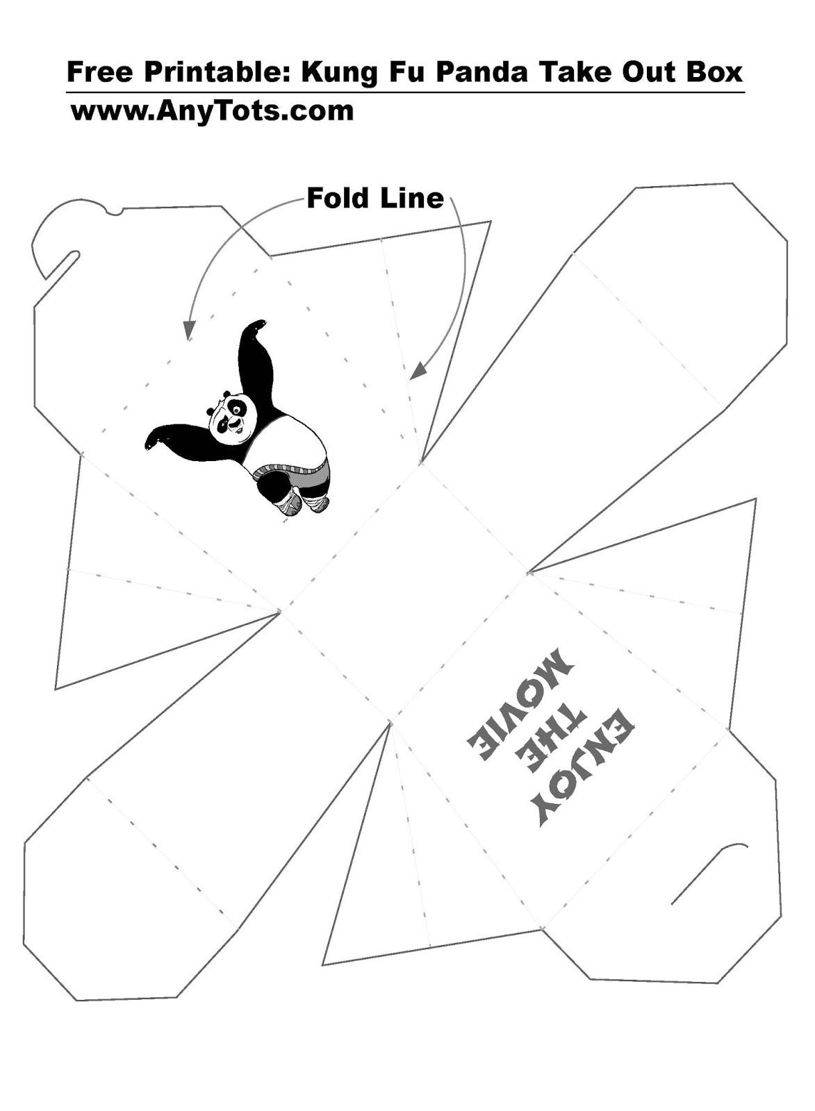 Kung Fu Panda Party Ideas Free Printable Chinese Take Out Box Movie Set Giveaway