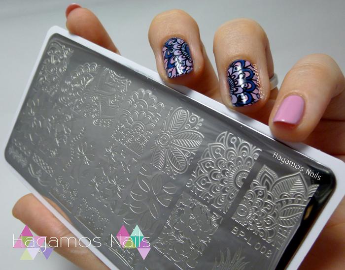 Hagamos Nails: Nail Art Flor Mandala Reverse Stamping