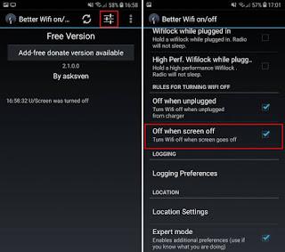 إجعل هاتفك يقوم بإيقاف تشغيل الوايفي تلقائيا عند إغلاق شاشة هاتفك و حافظ على شحن بطاريتك لوقت أطول