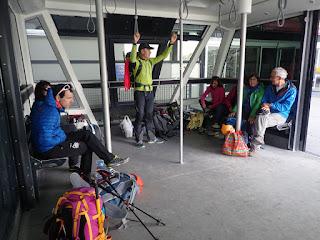 Subiendo al Plateau Rosa en teleférico