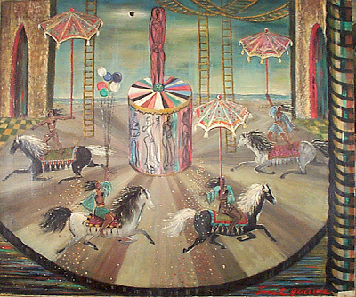 Women on Horseback (1951), Juanita Guccione