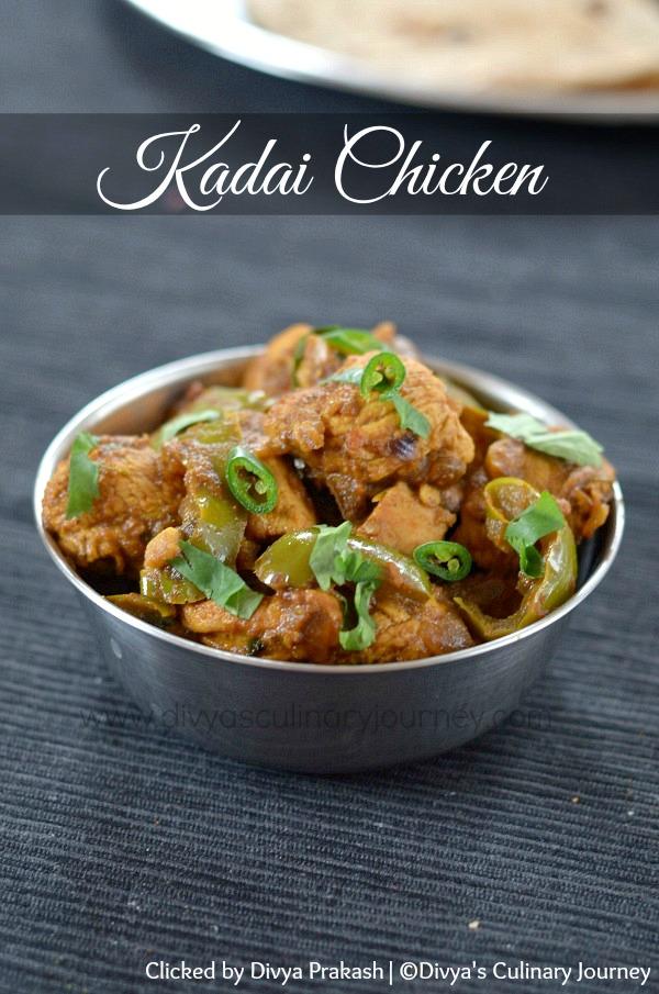Divya's culinary journey: Kadai Chicken Recipe | Chicken