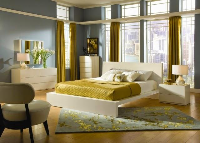 dormitorio dorado plata