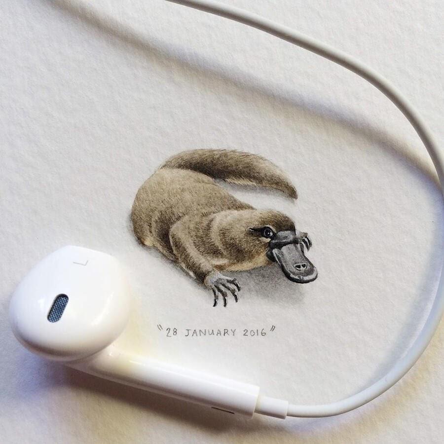 10-Platypus-Lorraine-Loots-Tiny-Art-www-designstack-co