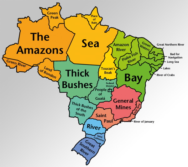 Brazilian State names translated literally into English