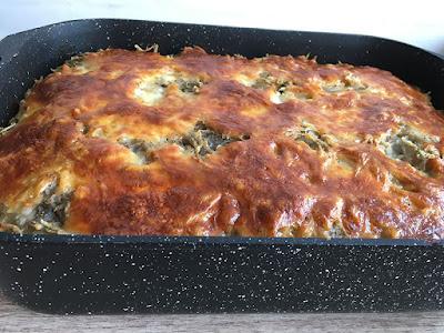 Mięso mielone zapiekane z warzywami i serem mozzarella