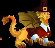 dragon accion de gracias adulto